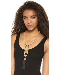 Holst + Lee - Metallic Tassel Necklace - Lyst