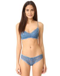 Honeydew Intimates - Blue Camellia Lace Thong - Lyst