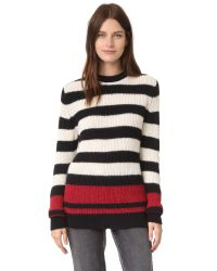 IRO | Multicolor Solal Striped Ribbed Sweater | Lyst