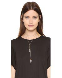 Jacquie Aiche - Metallic Ja Crystal Wrap Necklace - Lyst