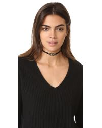 Jacquie Aiche - Metallic Ja Cross Y Necklace - Lyst