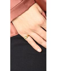 Jacquie Aiche - Metallic Ja Burst Heart Signet Pinky Ring - Lyst