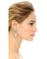 Joanna Laura Constantine - Metallic Embellished Drop Earrings - Lyst