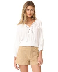 Joie   White Orval Blouse   Lyst