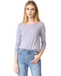 James Perse | Purple Long Sleeve Tee | Lyst