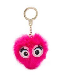 Kate Spade | Pink Monster Pouf Pig Key Fob | Lyst