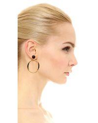 Kate Spade - Black Do The Twist Drop Earrings - Lyst
