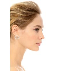 Kenneth Jay Lane   Metallic Coiled Infinity Pave Earrings   Lyst