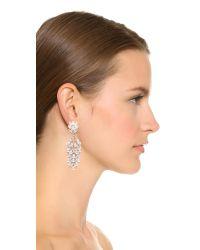 Kenneth Jay Lane - Multicolor Cluster Leaf Drop Clip On Earrings - Lyst