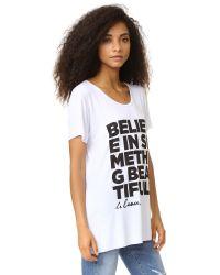 Le Beau | White Believe Tee | Lyst