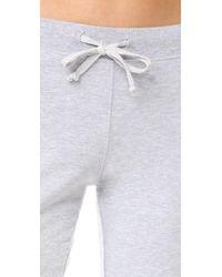 Love+Grace - Gray Fuzzy Fleece Pj Pants - Lyst