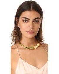 Lizzie Fortunato - Metallic Organic Knot Collar Necklace - Lyst