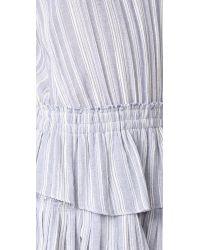 LoveShackFancy - Blue Ruffle Racer Mini Dress - Lyst