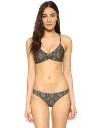 L*Space - Green Emma Reversible Bikini Bottoms - Lyst