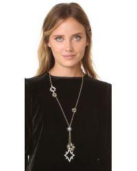 Lulu Frost - Metallic Nova Pendant Lariat Necklace - Lyst
