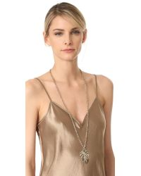 Lulu Frost - Metallic Botanica Long Pendant Necklace - Lyst