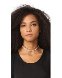 Luv Aj - Pink Charm Choker Necklace - Lyst