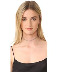 Luv Aj - Metallic The Delilah Choker Necklace - Lyst