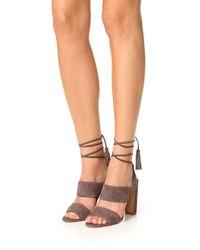 Madewell - Black Octavia Tassel Sandals - Lyst