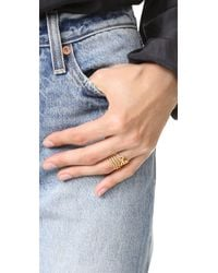 Madewell - Multicolor Crownstack Ring - Lyst