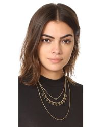 Madewell - Metallic Crystal & Stick Necklace Set - Lyst
