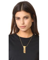 Madewell | Metallic Half Circle Necklace With Fringe | Lyst