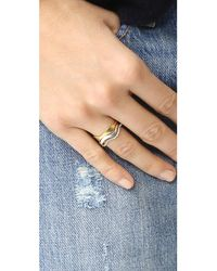 Madewell - Metallic Wave Ring Stack - Lyst