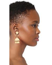 Madewell - Metallic Geo Metal Statement Earrings - Lyst