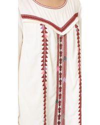 Scotch & Soda - Multicolor Embroidered Boho Dress - Lyst