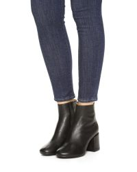 MM6 by Maison Martin Margiela - Black Ankle Booties - Lyst
