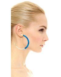 Marni - Multicolor Metal Hoop Earrings - Lyst
