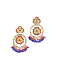 Miguel Ases | Multicolor Chrissy Earrings | Lyst