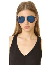Matthew Williamson - Blue Mirrored Aviator Sunglasses - Lyst