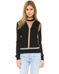 McQ - Black Multigauge Top - Lyst
