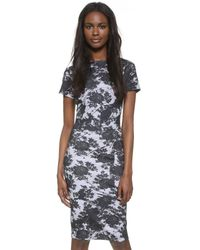 McQ - Blue Bodycon Dress - Lyst