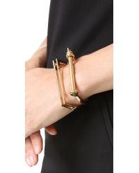 Miansai - Metallic Square Bar Cuff Bracelet - Lyst