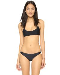 Mikoh Swimwear | Black Hermosa Scoop Bikini Top | Lyst