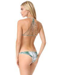 Mikoh Swimwear - Multicolor Banyans String Racer Back Bikini Top - Lyst