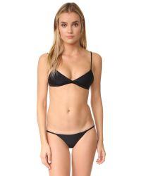 Mikoh Swimwear | Black Belize Triangle Bikini Top | Lyst