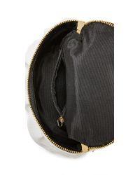 MILLY - White Astor Ruffle Small Top Zip Cross Body Bag - Lyst