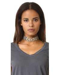 Mishky - Gray Macui Choker Necklace - Lyst