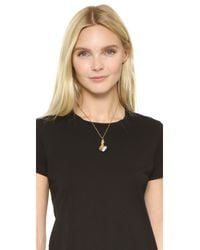 Marc Jacobs - Metallic Hand Heart Necklace - Lyst