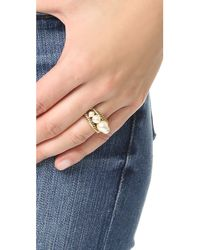 Marc Jacobs - Metallic Imitation Pearl Rope Ring - Lyst