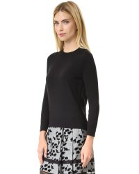 Marc Jacobs - Black Embroidered Classic Crew Sweater - Lyst