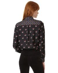 Marc Jacobs | Multicolor Button Up Shirt With Tie | Lyst