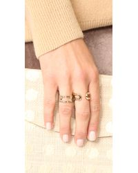 Marc Jacobs - Metallic Icon Brand Ring - Lyst