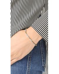 Marc Jacobs - Multicolor Strass Safety Pin Link Bracelet - Lyst