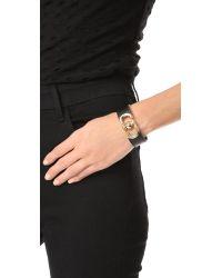 Marc Jacobs - Multicolor Icon Leather Magnet Bracelet - Lyst