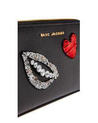 Marc Jacobs - Black Sequin Hand To Heart Zip Wristlet - Lyst