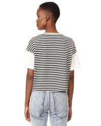 Marc Jacobs - Black Classic Stripe Tee - Lyst
